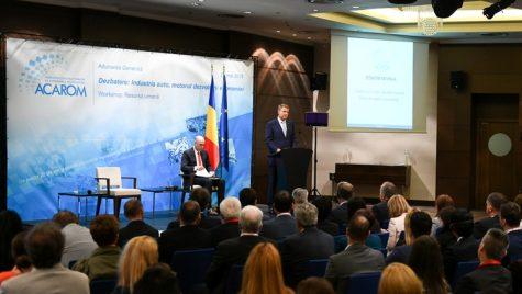 Iohannis îndeamnă industria auto să aprofundeze colaborarea cu universităţile, după modelul Bosch şi Continental